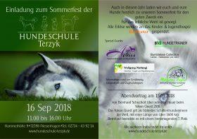 Sommerfest der Hundeschule Terzyk ! Wir sind mit einem Beratungsstand vor Ort!